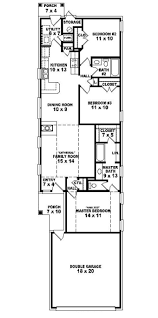 Single Family Home Plans by Single Story Narrow Lot House Plans 1985