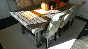 slate dining table set rustic dining room table modern rustic gray dining room table with