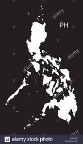 Phillipines Map Philippines Map Black And White Illustration Stock Vector Art