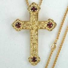 pectoral crosses for sale jeweled pectoral cross amethyst or ruby accents 3 5 8 inches