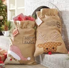 burlap in bulk wholesale santa sack blanks embroidered design price for