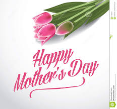 happy mothers day tulips design eps 10 vector stock vector image