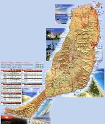 Canary Islands Map The Island Of Fuerteventura In The Canary Islands