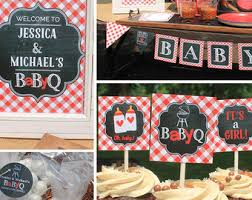 michael baby shower decorations baby q baby shower etsy