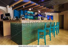 modern restaurant cafe interior public place stock photo 495913066