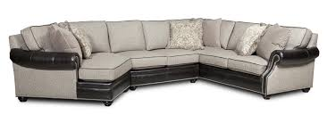 Ethan Allen Sectional Sofa With Chaise by Bradington Young Warner Three Piece Sectional Sofa With Laf