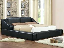 black leather bed frame queen platform canopy coccinelleshow com