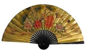 oriental fan wall hanging 40 chinese oriental handpainted folding paper wall hanging fan