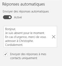 outlook message absence bureau rédiger un e mail d absence avant départ en vacances regionsjob