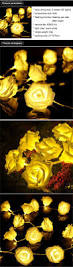 Flower String Lights by 20 Led Battery Operated Rose Flower String Lights Wedding Garden