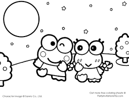 best friends coloring pages printable sanrio coloring pages coloring page