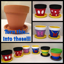 disney thanksgiving crafts my disney life diy project painted flowerpots