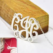 3 Initial Monogram Necklace Sterling Silver Online Buy Wholesale Sterling Silver Personalized From China