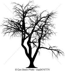 vectors illustration of creepy tree a silhouette of a creepy