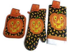 Halloween Print Fabric by Halloween Jack O Lanterns Kitchen Towels Halloween Wikii