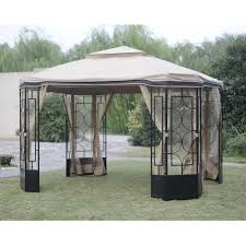 gazebo mosquito netting hton bay mosquito netting for alcove gazebo l gz712pst mn the