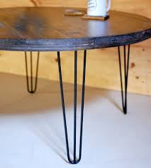 round hairpin coffee table round hairpin leg coffee table best gallery of tables furniture