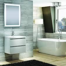 buy synergy revert bathroom mirror led clock u0026 demister