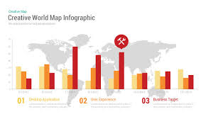 Target World Map by Creative World Map Infographic Powerpoint And Keynote Template