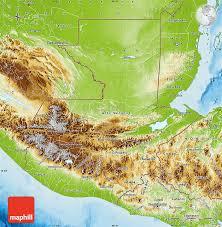geographical map of guatemala physical map of guatemala