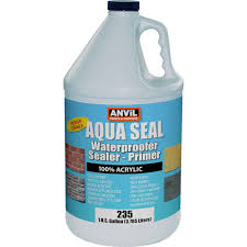 interior paint at the home depot 1 gal aquaseal waterproofer bonding primer acrylic clear