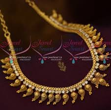 handmade fashion necklace images Nl10639 south indian handmade fashion jewellery mango design white JPG