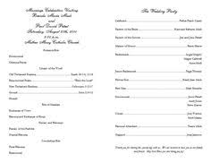 program for catholic wedding mass program template script mt sle 1 wedding mass