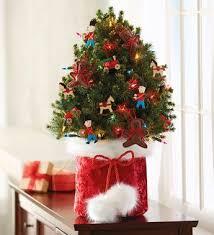 Pre Lit Mini Christmas Tree - mini trees live tabletop harry david prelit decorated live