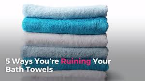 5 ways you u0027re ruining your bath towels real simple