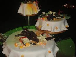painted platters 3 tier wedding cake picture of painted platters bengaluru