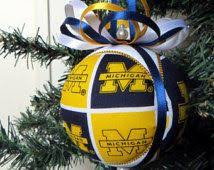 of michigan wolverines tree by treetownpaper
