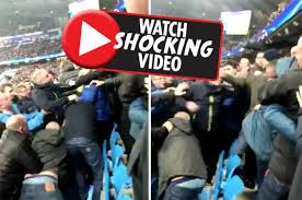 Chions League Meme - liverpool manchester united fans fighting the best fan of 2018