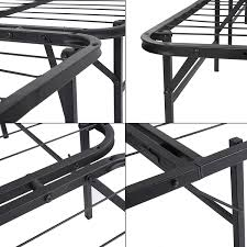 Metal Platform Bed Frame Queen Amazon Com Homdox Foldable Smartbase Mattress Foundation Platform