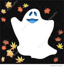 illustration of friendly halloween ghost