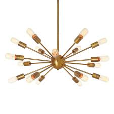 Sputnik Ceiling Light Lights Ceiling Chandeliers 18 Light Aged Brass Sputnik