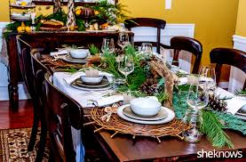 raid your yard create a rustic holiday table setting