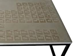 Periodic Table Coffee Table Focus Company Employee Periodic Concrete Coffee Table By