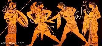 Ancient Greek Vase Painting Heracles U0026 Apollo Ancient Greek Vase Painting
