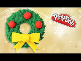 how to make a wreath play doh play dough decoration