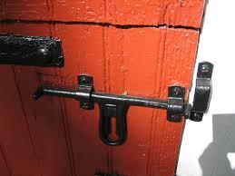 Red Barn Door by Old Fashioned Barn Door Latch This Old Door Latch Is On On U2026 Flickr