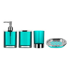 bathroom set chrome effect turquoise bathroom sink accessories