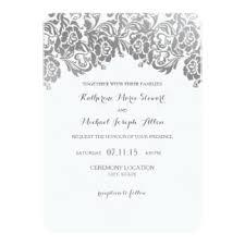 Vintage Lace Wedding Invitations Grey Lace Wedding Invitations U0026 Announcements Zazzle Co Uk