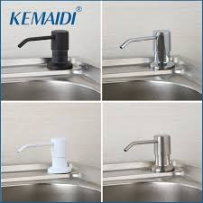 Kitchen Sink Soap Dispenser Brushed Nickel Kemaidi Contemporary Four Choice Chrome Brushed Nickel Countertop