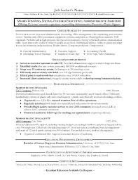 resume template for administrative assistant administrative assistant objective resume