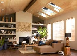 Modern Living Room Roof Design Bedroom Exciting Velux Skylights With Cozy Pergo Flooring For