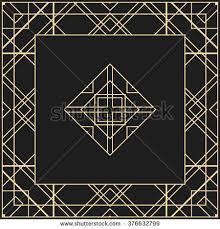 Art Deco Design Elements Vector Geometric Frame Art Deco Style Stock Vector 411110944