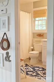 preppy coastal bathroom reveal city farmhouse