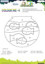 colour 4 math worksheet kindergarten free u0026 printable