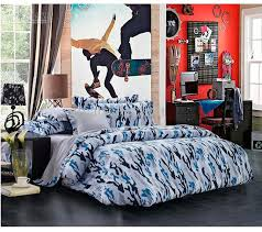 awesome white grey blue army cool bedding with 8 piece comforter
