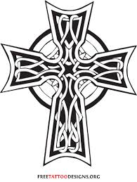 dragon and celtic cross tattoo design
